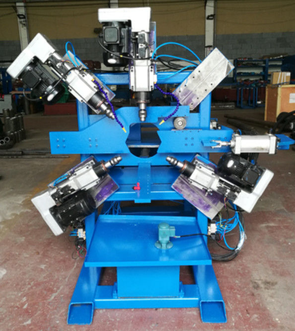 Parking lot  Light Pole Machine  , Double Hole Drilling machine for 40 ~ 120mm pipe