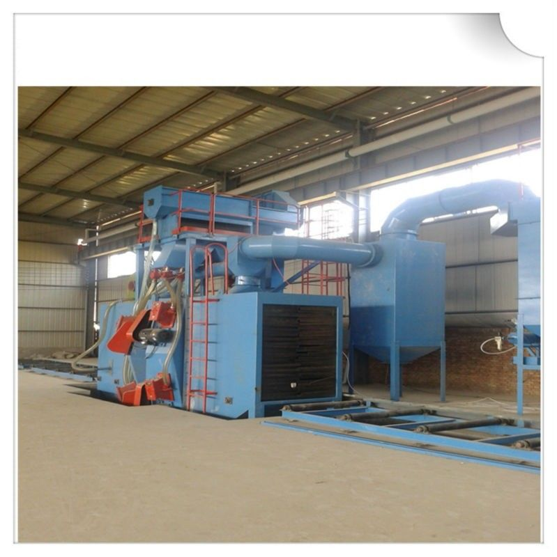 Steel structure H beam shot blasting machine / Roller Conveyor Sand Blasting Machine
